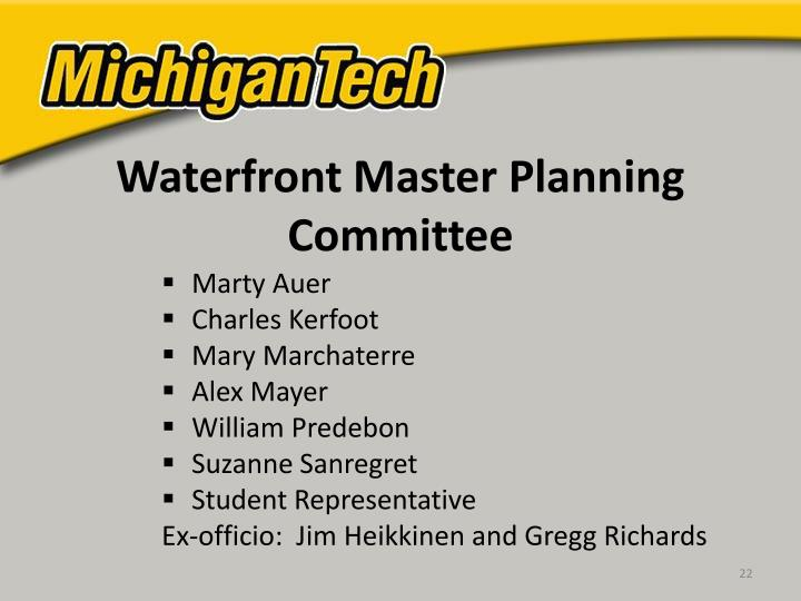 Waterfront Master Planning Committee
