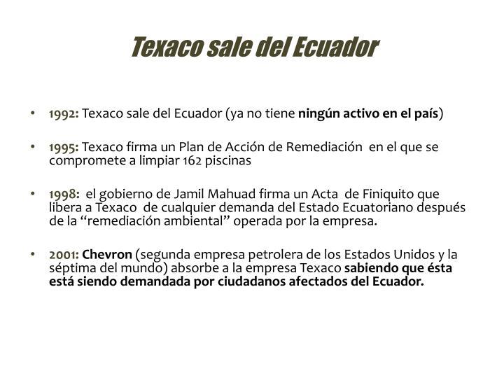 Texaco sale del Ecuador