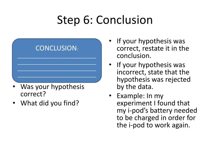 Step 6: Conclusion