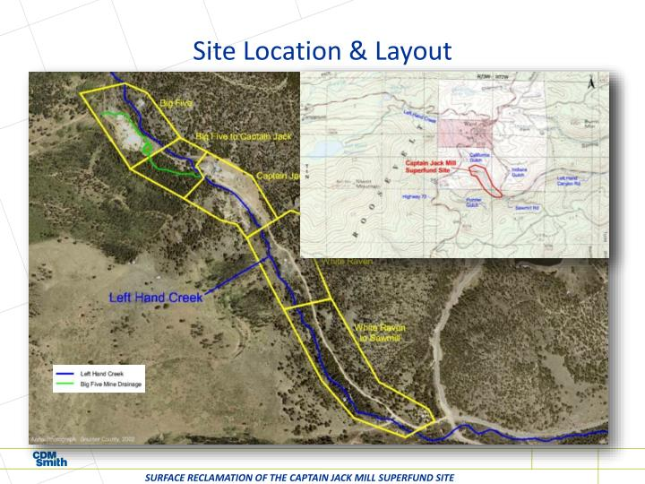 Site location layout