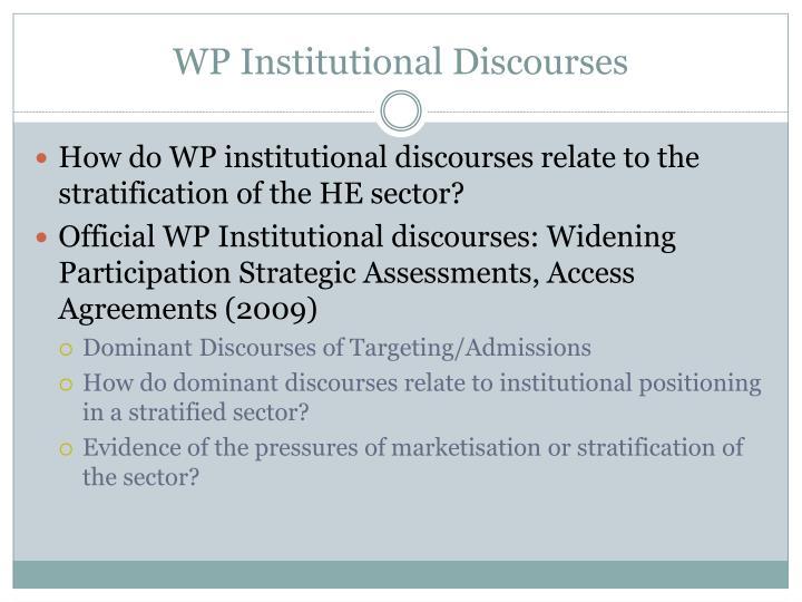 WP Institutional Discourses