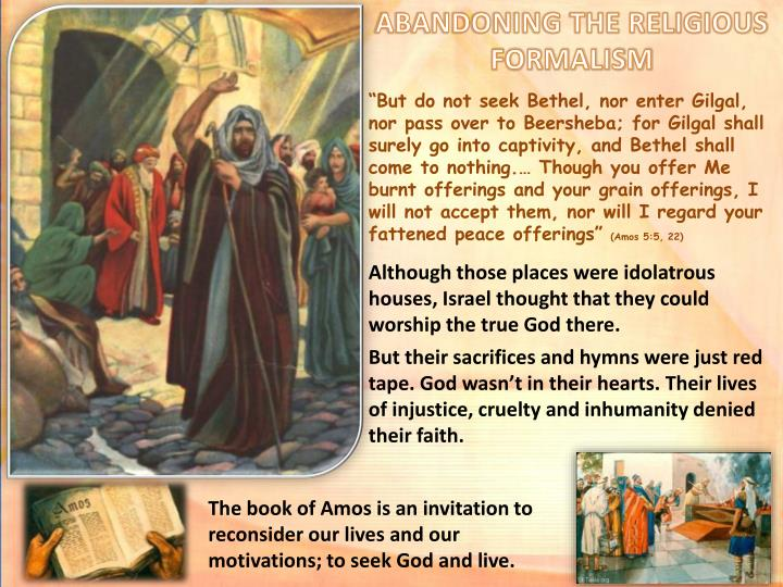 ABANDONING THE RELIGIOUS FORMALISM