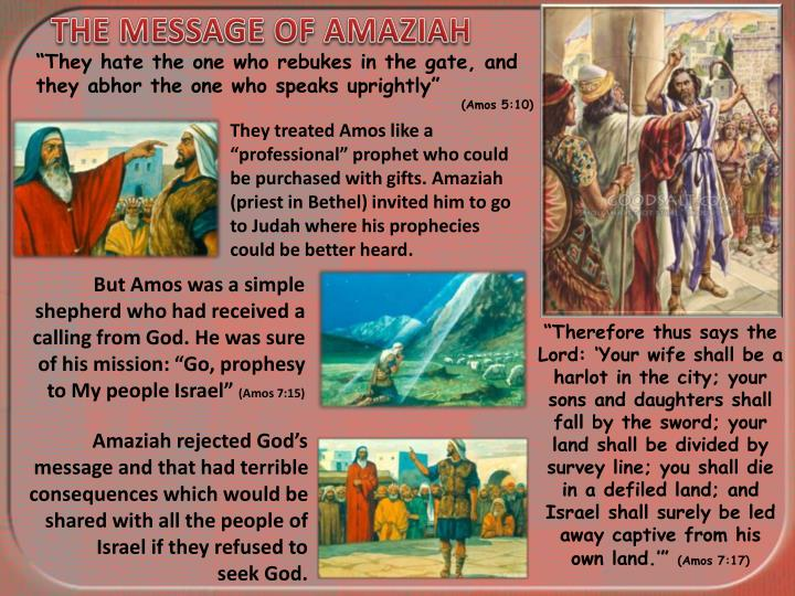 THE MESSAGE OF AMAZIAH