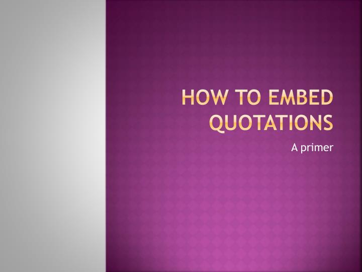 how to e mbed quotations n.