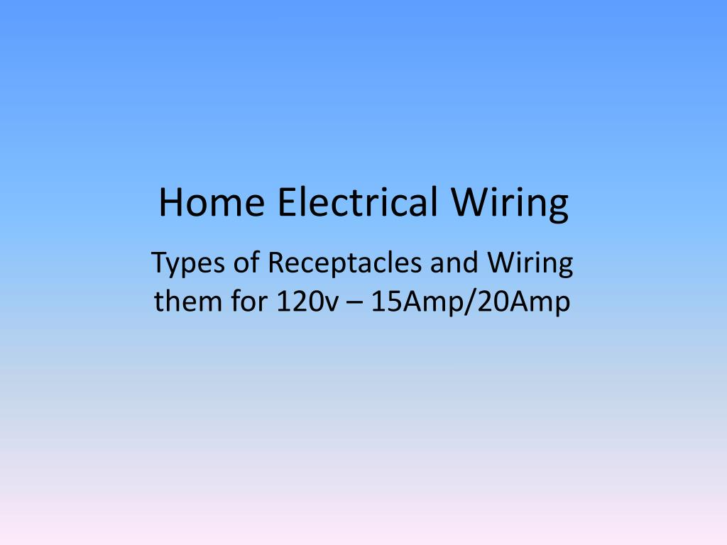 Ppt Home Electrical Wiring Powerpoint Presentation Id1926340 Types Of N