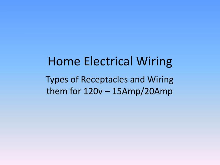 Incredible Ppt Home Electrical Wiring Powerpoint Presentation Id 1926340 Wiring Cloud Hisonuggs Outletorg
