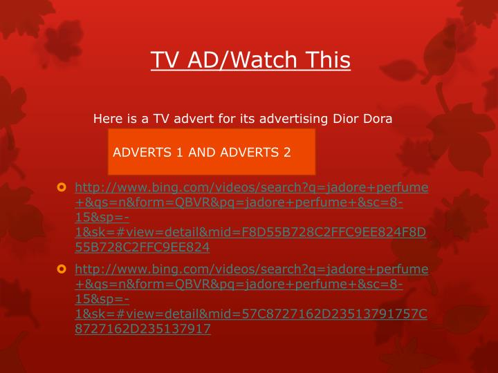 TV AD/Watch This