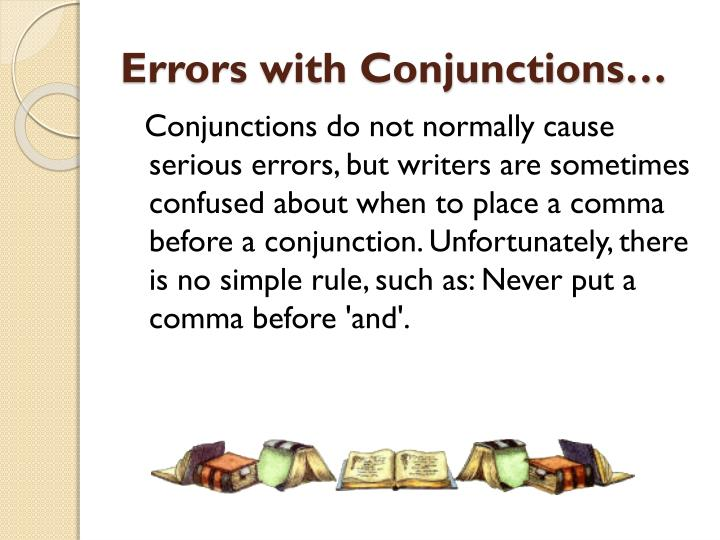 errors with conjunctions