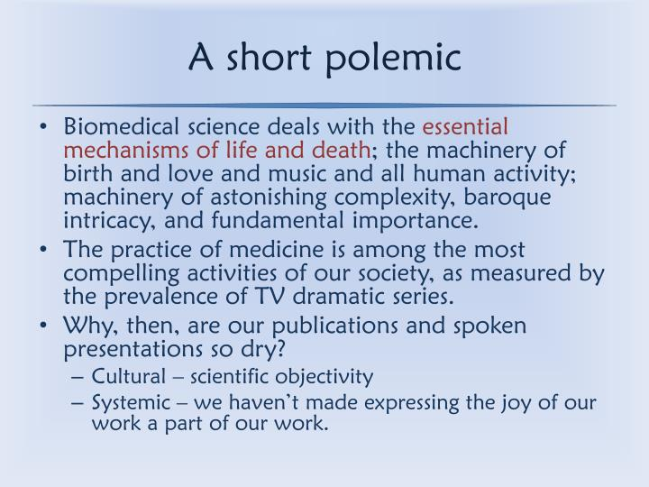 A short polemic