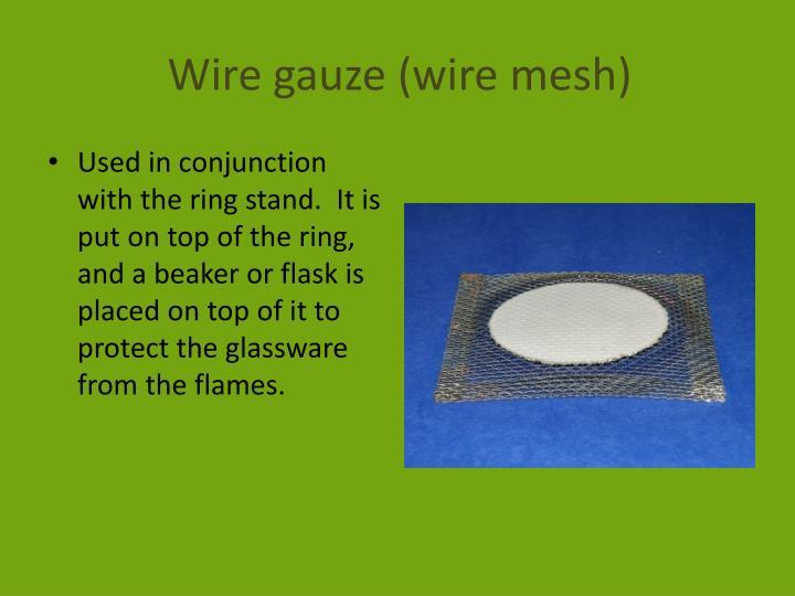 Wire gauze (wire mesh)