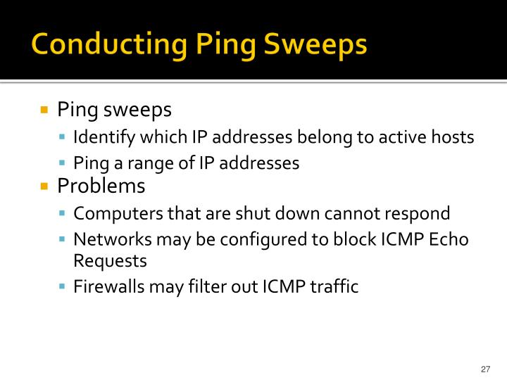 Conducting Ping Sweeps