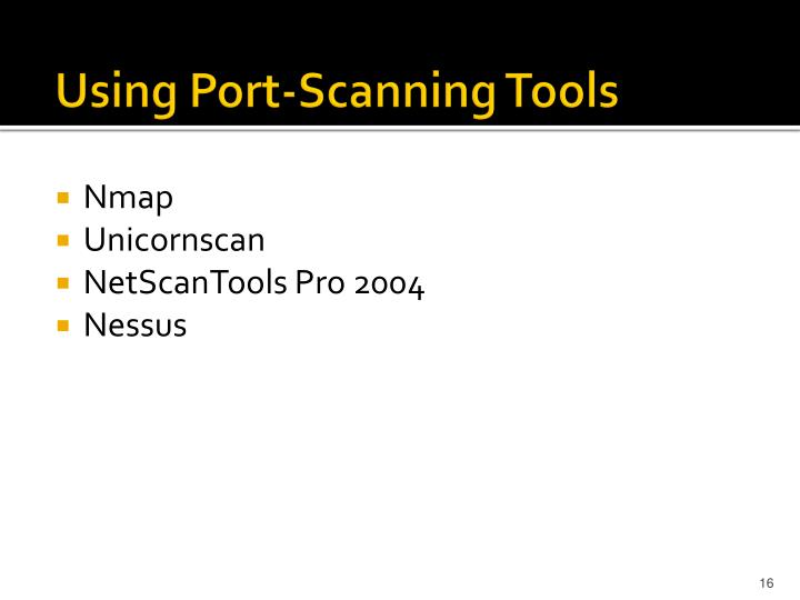Using Port-Scanning Tools
