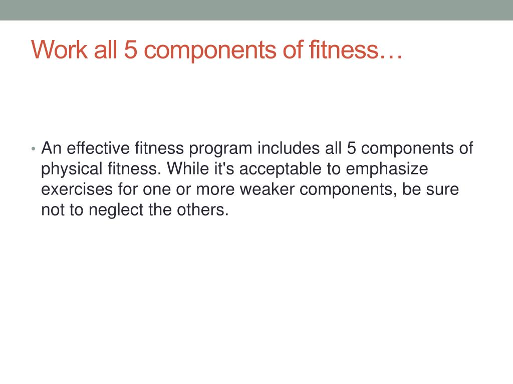 PPT - Components Of Fitness PowerPoint Presentation, Free