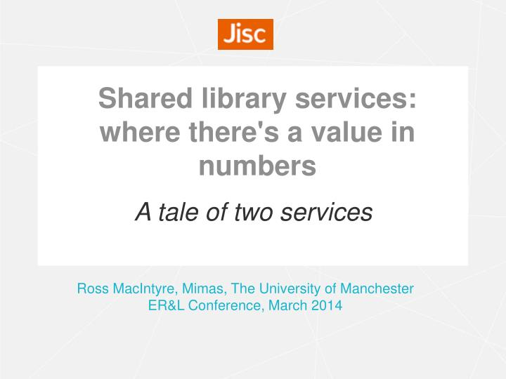 shared library services where there s a value in numbers n.