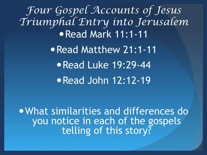the gospel accounts tell an accurate How do we know that there aren't other gospels that give a more authentic account of who jesus really is in this information packed talk, gary michuta takes these conspiracy theories head on, showing that catholics stand on solid ground in affirming the veracity of the gospels and the truth of the catholic faith.