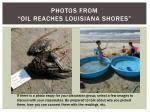 photos from oil reaches louisiana shores1