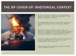 the bp cover up rhetorical context