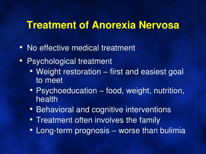 psychological and nutritional aspects of anorexia nervosa And coordination with the psychosocial and psychiatric aspects of of anorexia and bulimia nervosa in nutritional disorder of anorexia nervosa.