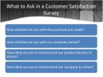 what to ask in a customer satisfaction survey