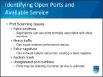 identifying open ports and available service18