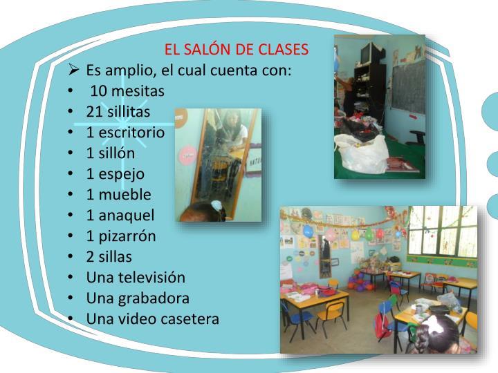 EL SALÓN DE CLASES