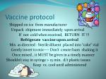 vaccine protocol