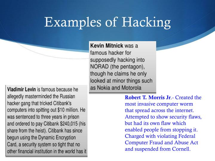 Examples of Hacking