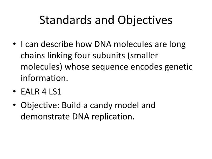 Standards and Objectives