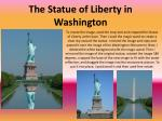 the statue of liberty in washington