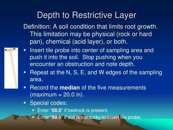 Depth to Restrictive Layer