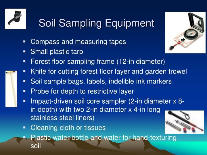 Soil Sampling Equipment