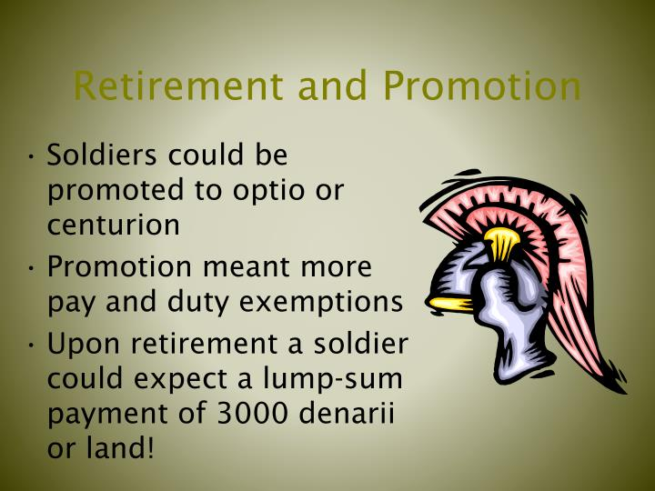 Retirement and Promotion