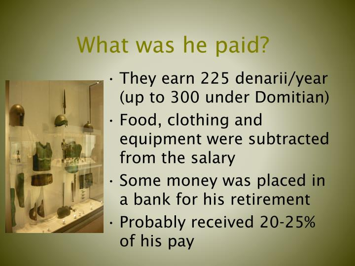 What was he paid?