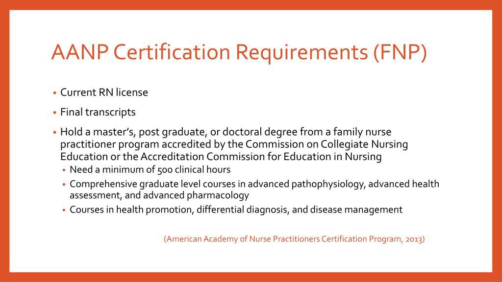 aanp recertification requirements certification certifications fnp national np nurse ppt powerpoint presentation practitioner program