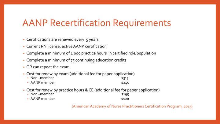 AANP Recertification Requirements