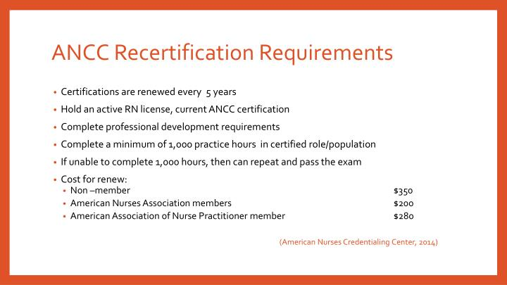 PPT - National Certifications and Recertification Requirements ...
