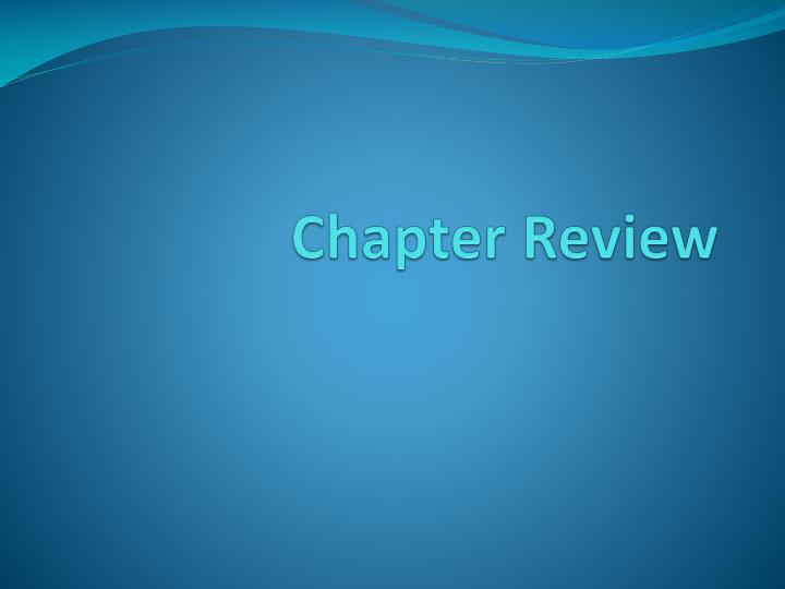 chapter review n.