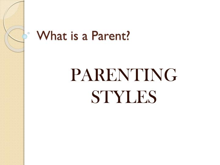 what is a parent n.
