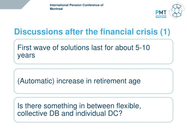 International Pension Conference of  Montreal