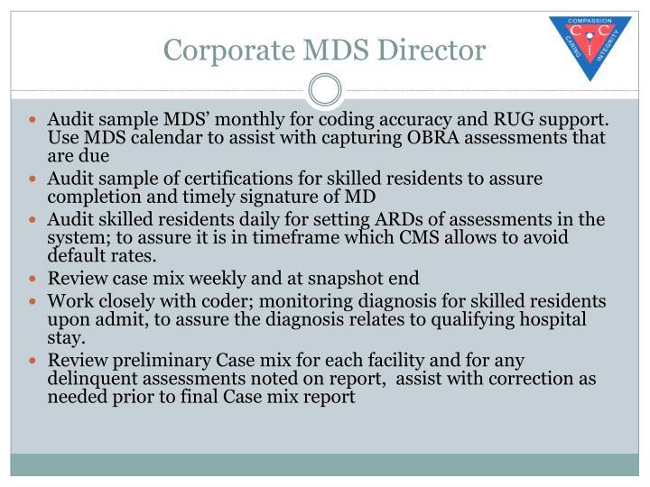 Corporate MDS Director