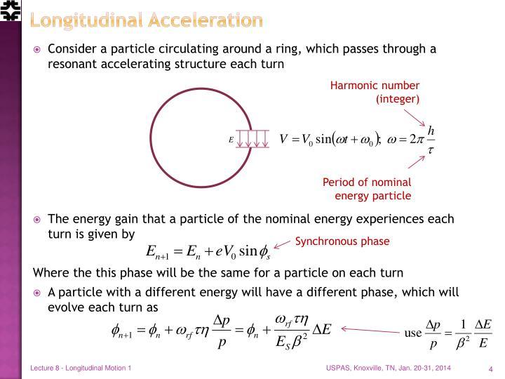 Longitudinal Acceleration