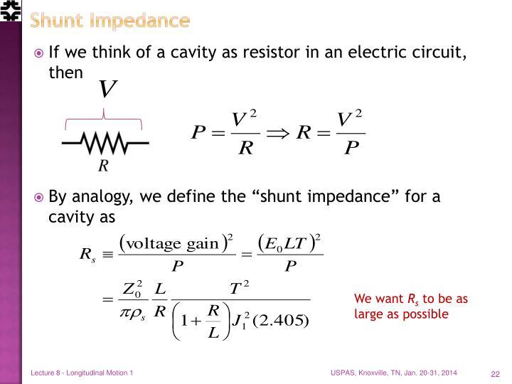 Shunt Impedance