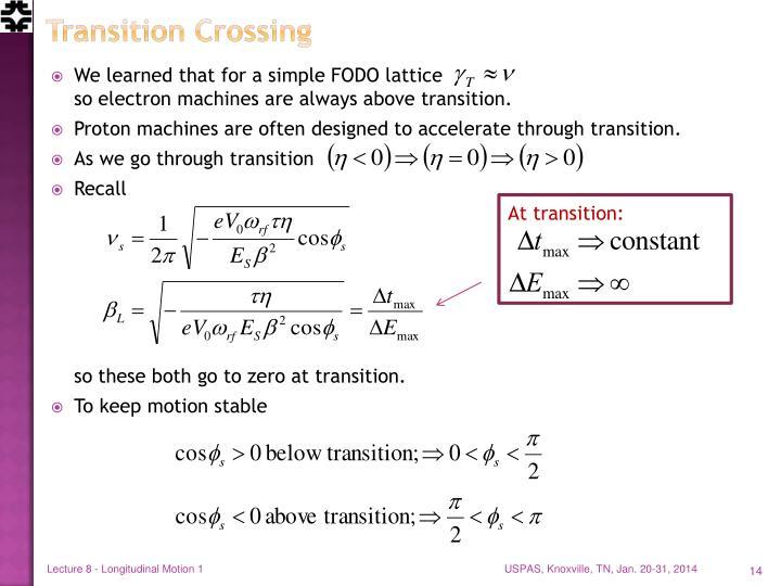Transition Crossing