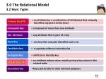3 0 the relational model 3 2 keys types