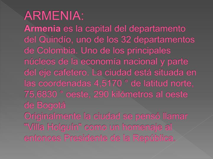 ARMENIA: