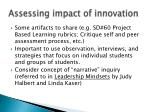 assessing impact of innovation