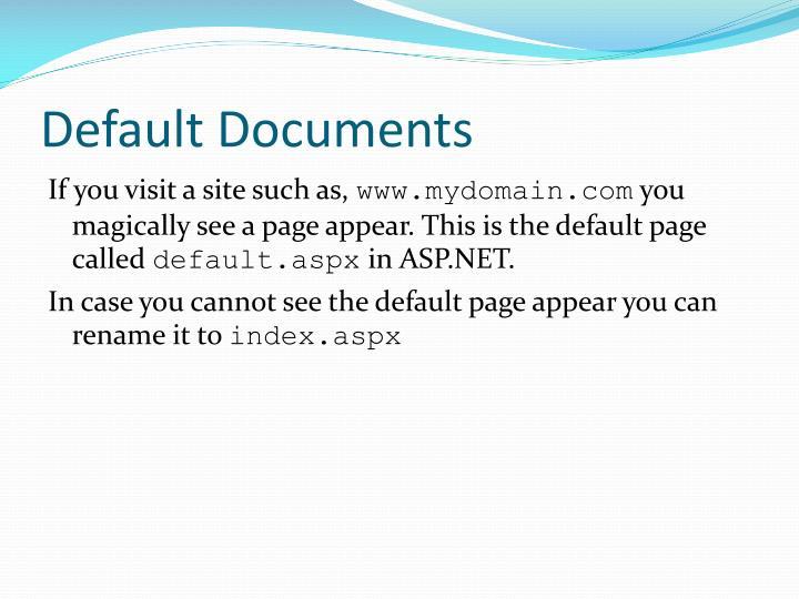 Default Documents
