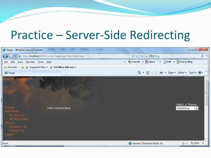 Practice – Server-Side Redirecting