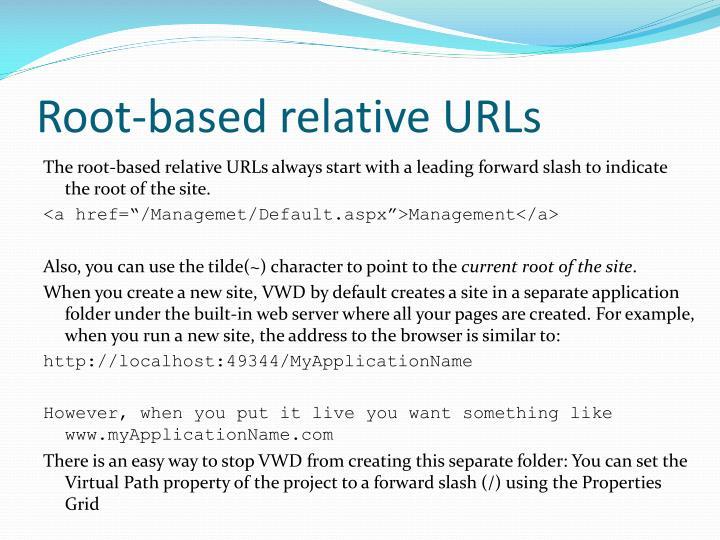 Root-based relative URLs