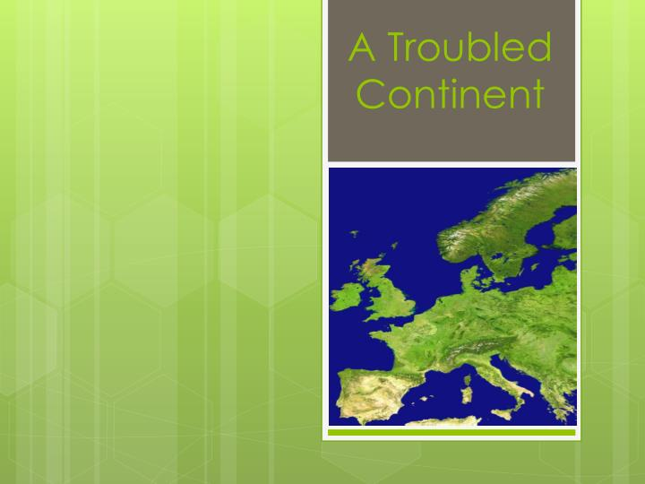 a troubled continent n.